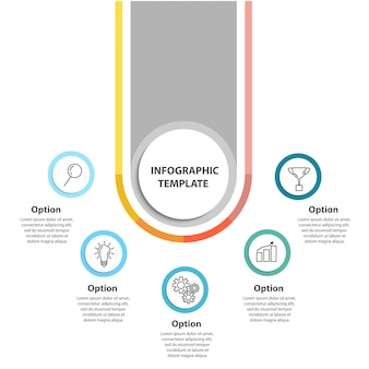 Business concept infographic template.