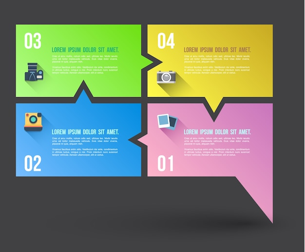 Business concept infographic template