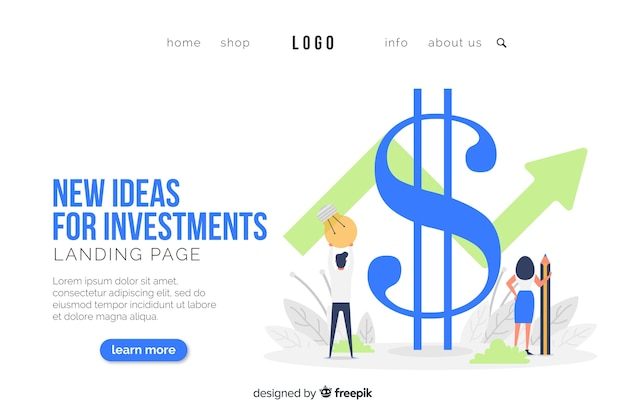 Business concept landing page template