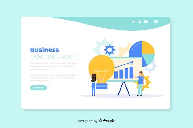 Шаблон бизнес-концепции целевой страницы