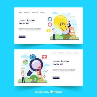 Business concept landing page templates