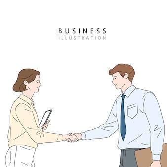 Бизнес-концепция линии иллюстрации