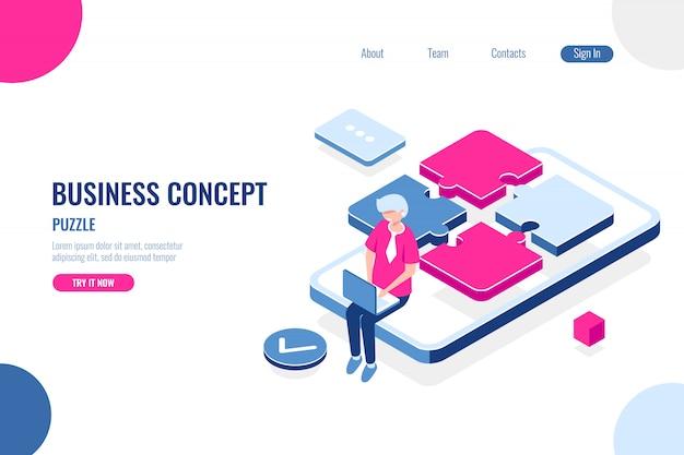 Business concept, puzzle