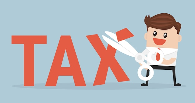 Business concept tax deduction.