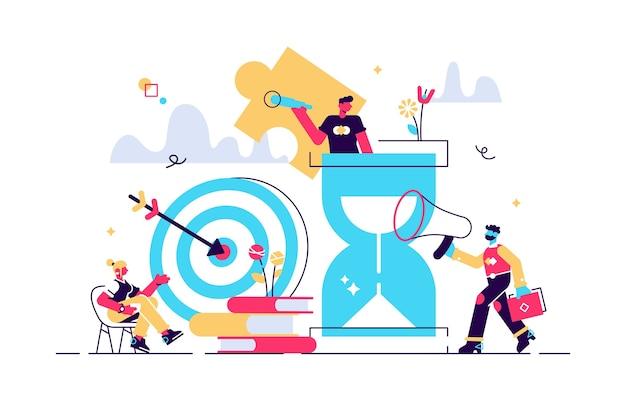 Бизнес-концепция. метафора команды. плоский стиль дизайна символ совместной работы