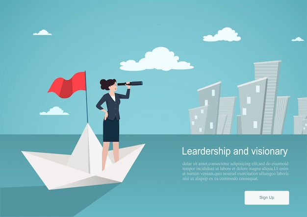 Business concept of vision. background template