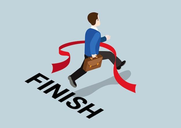 Finale vincente del concetto di affari della sfida