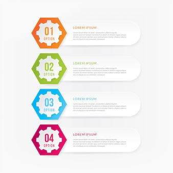Business concept with 4 options, steps or process