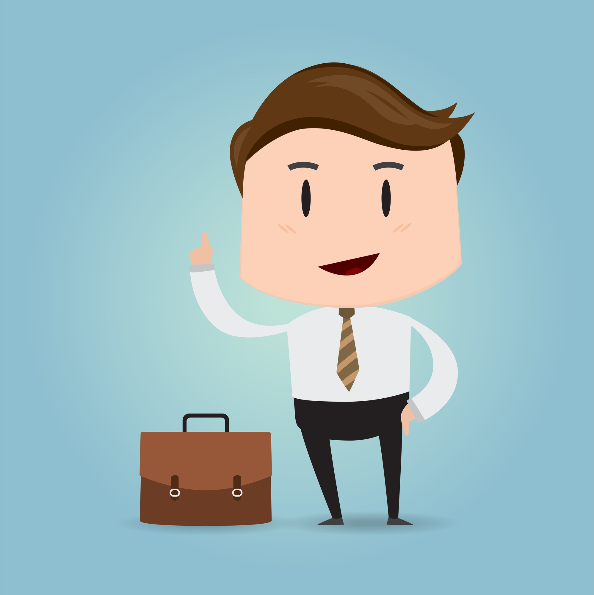 Business concept with Businessman