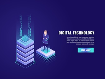 Business concept with computer technology element
