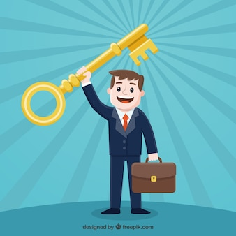 Business concept with key to success