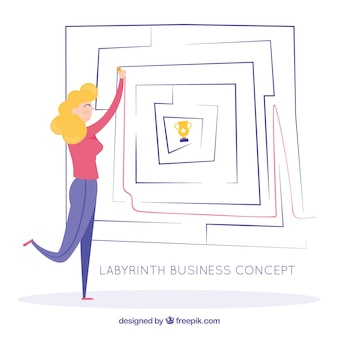 Business concept with labyrinth