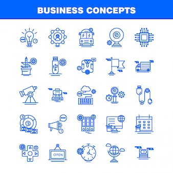 Business concepts line icons