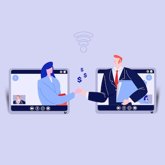 Business conference by video call