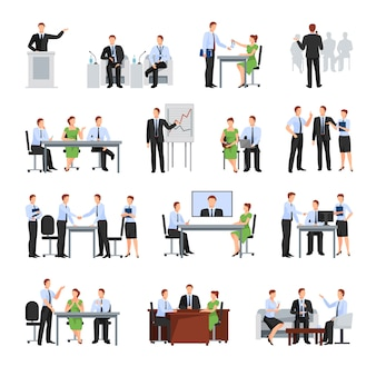 Business conference  elements collection