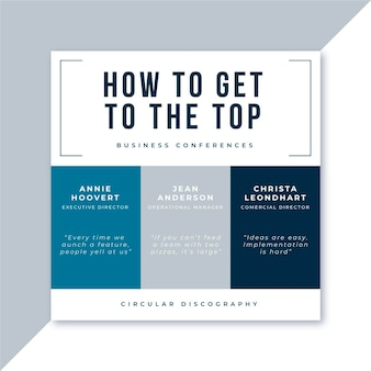 ビジネス会議のfacebook投稿テンプレート