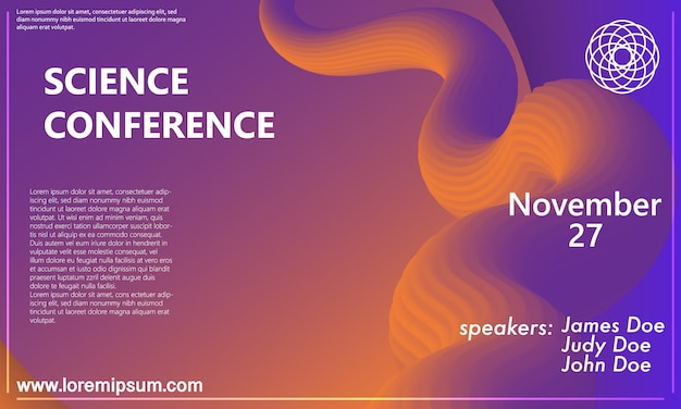 Business conference. invitation design template.