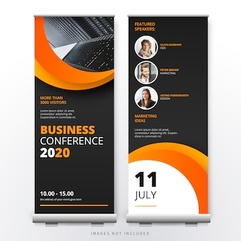 Business conference roll up template