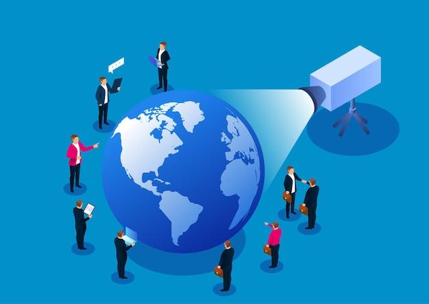 ビジネスカンファレンスセミナーとビジネス戦略研究ストックイラスト