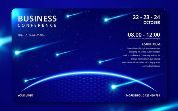 Business conference simple template invitation.