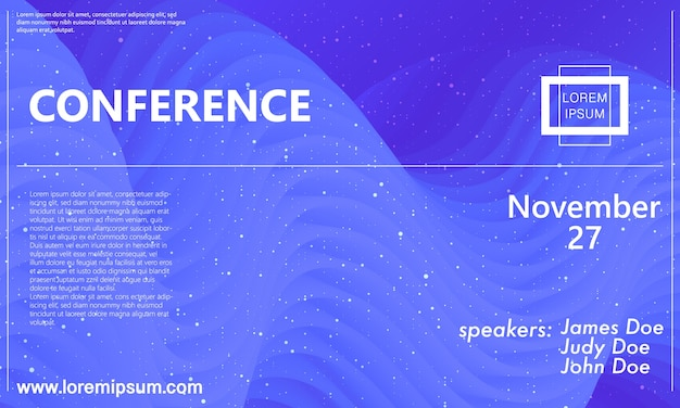 Business conference template