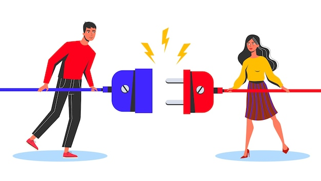 Business connection concept. woman and man standing