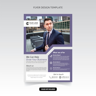 Business consultant digital marketing agency flyer poster template design