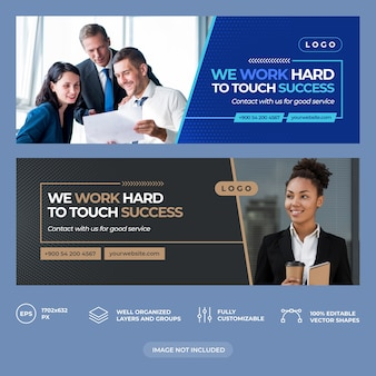 Business consulting facebook cover template
