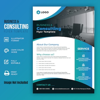 Business and consulting flyer template