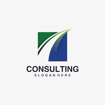Бизнес консалтинг логотип вдохновение, решение,