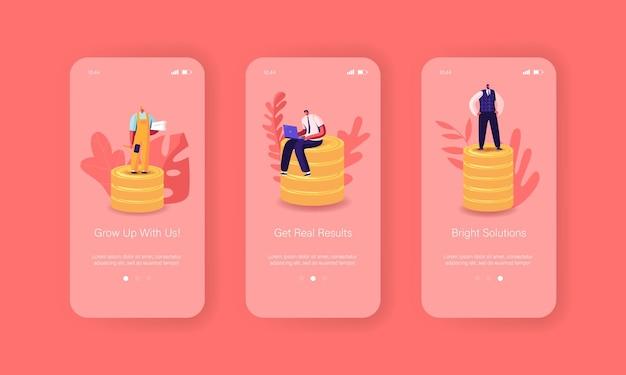 Шаблон встроенного экрана для страницы мобильного приложения business consulting