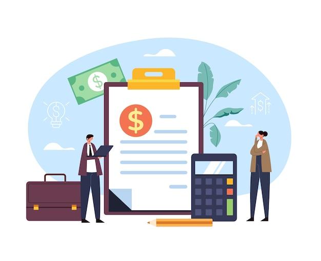 비즈니스 컨설팅 돈 투자 개념 그래픽 디자인 일러스트 레이션