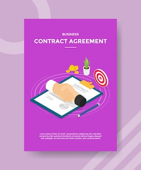 Business contract agreement flyer template