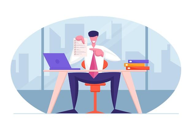 Концепция бизнес-контракта улыбающийся бизнесмен или юрист-консультант