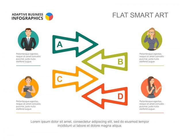 Modello di diapositiva di cooperazione aziendale. grafico. concept creativo per infografica, report.