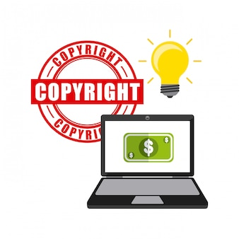 Business copyright concept icons
