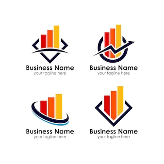Business corporate finance logo design template