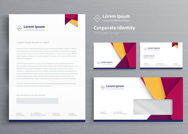 Business corporate identity template design