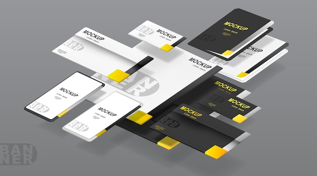 Business corporate identity template set.