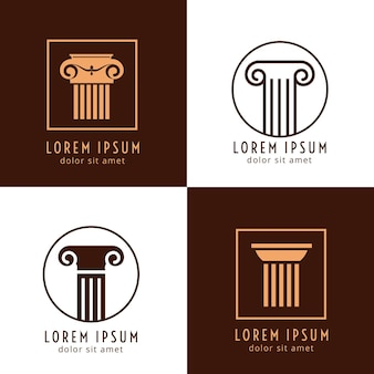 Business corporate identity with columns.