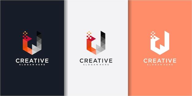 비즈니스 기업 편지 d 로고 디자인 벡터입니다. 다채로운 문자 d 로고 벡터 템플릿입니다.