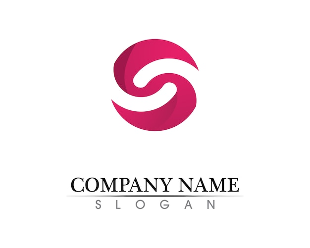 Business corporate letter s logo
