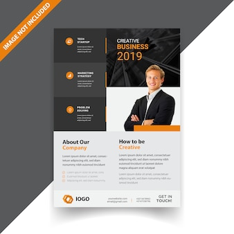 Business corporate minimal flyer template design