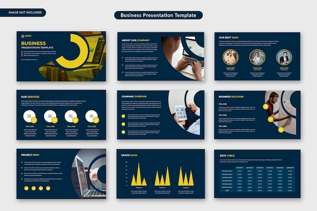 Business corporate presentation template or business proposal