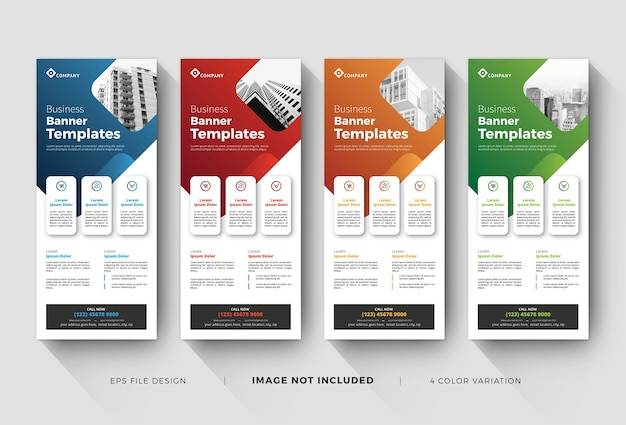Business corporate roll up banner templates