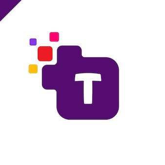 Дизайн логотипа для корпоративных корпоративных квадратов t