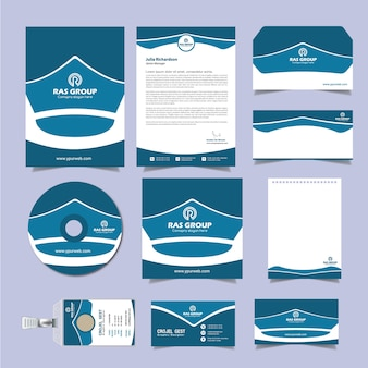 Business corporate stationery