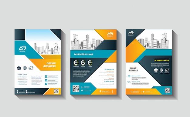 Бизнес корпоративный современный дизайн флаера