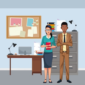 Business couple avatar