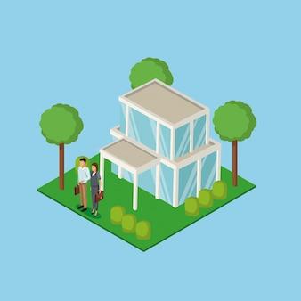 Бизнес пара недвижимости 3d